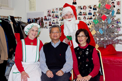 Sai Lim and Donna Wong with Barbara & Frank Erbacher at 49ers Christmas party 2010
