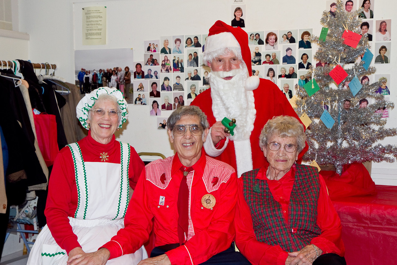 Coleman and Barbara with Barbara & Frank Erbacher at 49ers Christmas party 2010