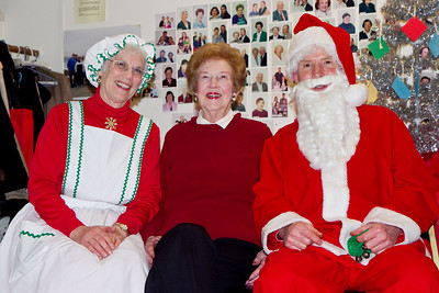 Hazel Farrell with Barbara & Frank Erbacher at 49ers Christmas party 2010