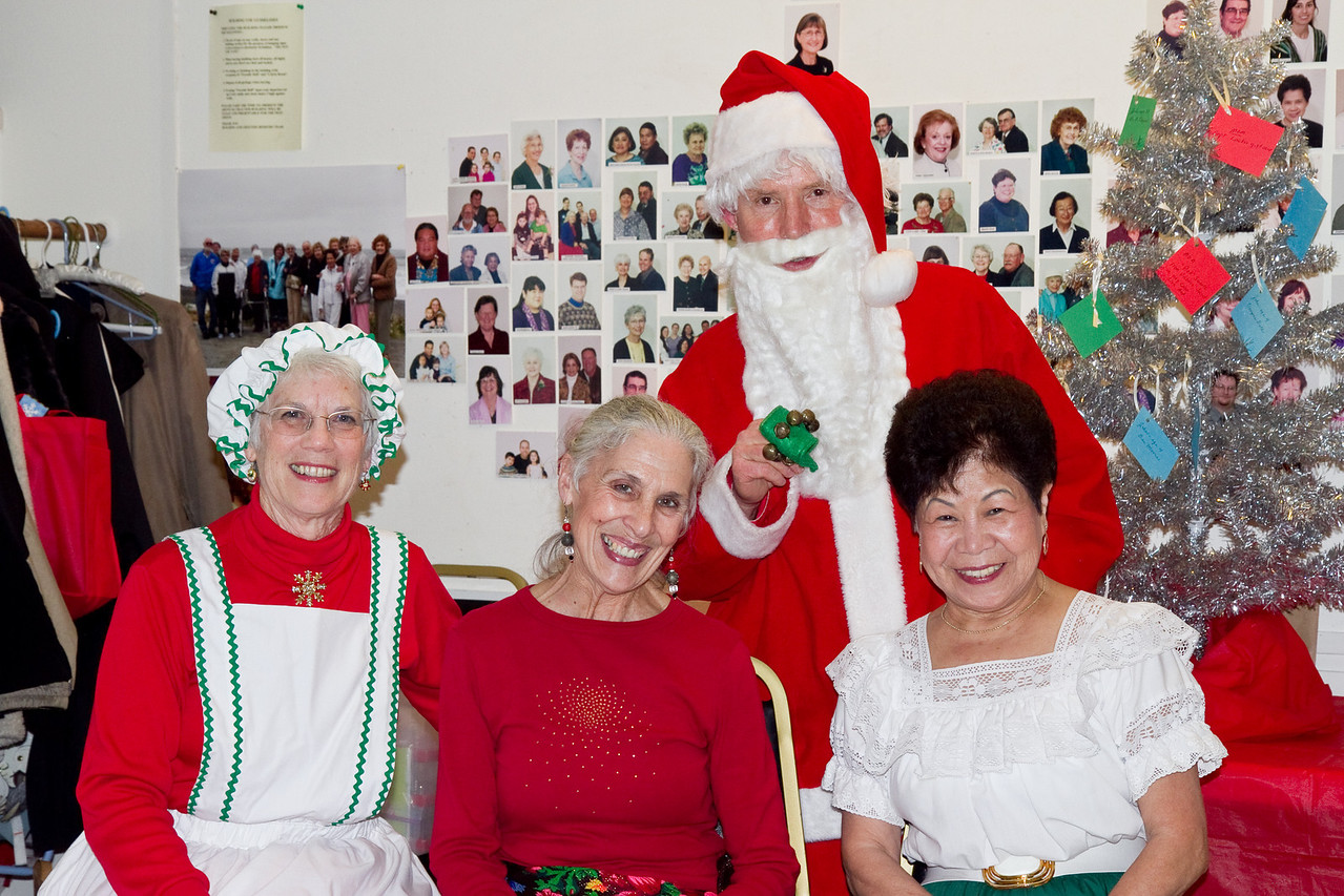 Guest and beginner dancer with Barbara & Frank Erbacher at 49ers Christmas party 2010