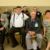 Elmer Sheffield, Bob Elling, Jerry and Kathy Helt watching the contra dancing at Callerlab