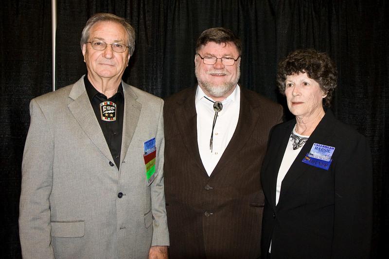 Elmer Sheffield, Bob Elling, and Marge Sheffield at Callerlab