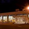 Conference center in Niagara Falls at night