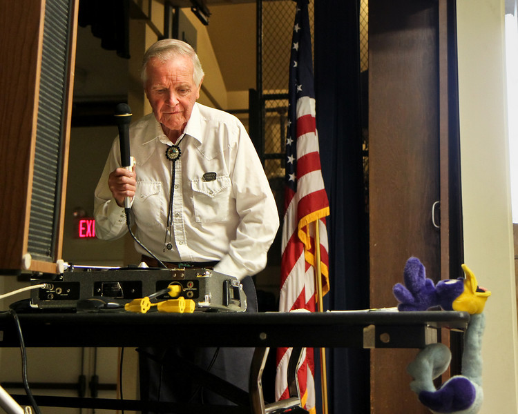 Jerry Helt, caller for the Roadrunners hoedown July 24, 2010