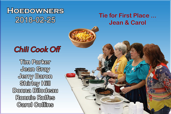 2018-02-25 Hoedowners Chili Cook Off