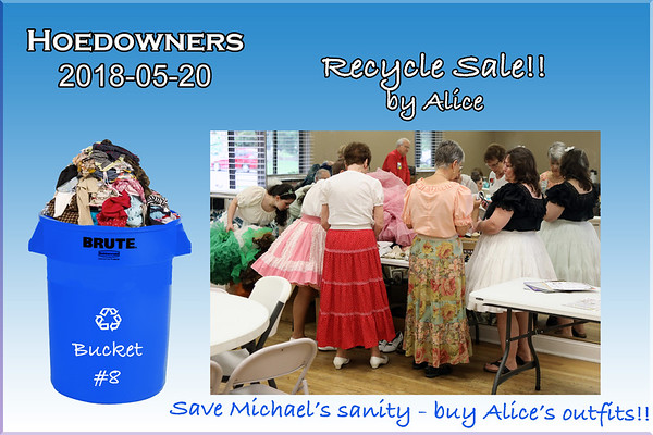 2018-05-20 Hoedowners Recycle Sale
