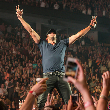 "Luke Bryan plays another Sold-Out Performance on his ""That's My Kind of Night Tour"" at the Rogers Arena in Vancouver Canada, May 3rd. 2014. (Matthew Lamb / 100.7 The Wolf)"