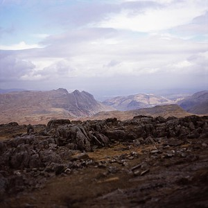 The Langdale PIkes From Allen Crags