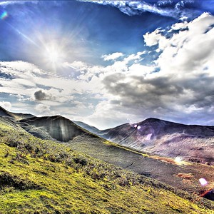 Sun Over Stile End & Grisedale Pike