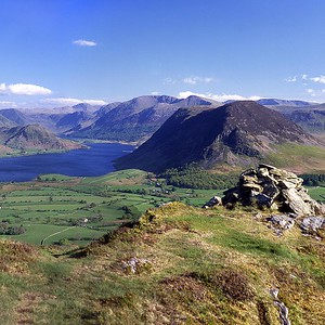 Mellbreak, High Stile and Crummock Water From Low Fell