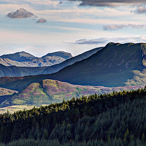 Bowfell, Esk Pike & Causey Pike from Barf