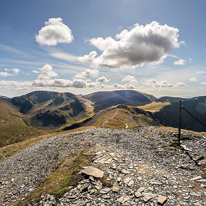 Grisedale Pike Summit : View West To Grasmoor.
