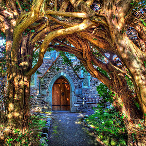 The Yew Arch At Thornthwaite Church