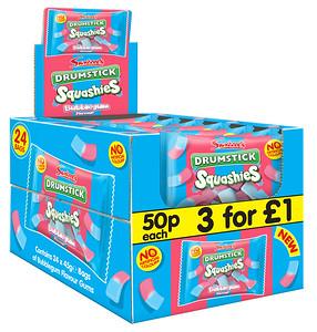 90463 Squashies Drumstick Bubblegum 45g 50p SRP
