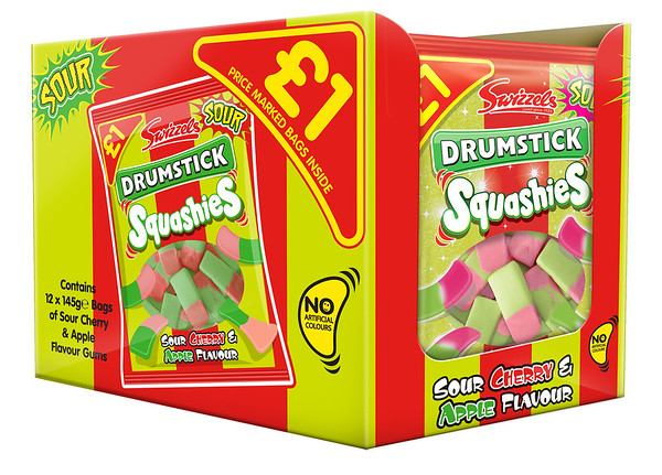 92253 Squashies Drumstick Sour Cherry and Apple 145g SRP