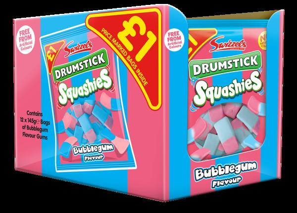 92230 Squashies Drumstick Bubblegum 145g SRP