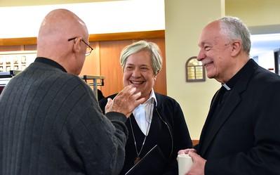 Fr. Mac, Sr. Norma and Fr. Tom share a laugh