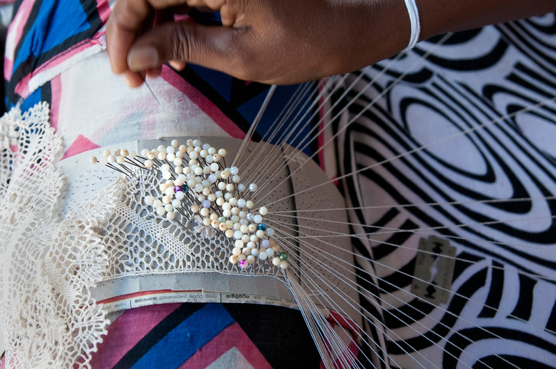 Lacemaking at Mansion Arts and Crafts, Galle, Sri Lanka