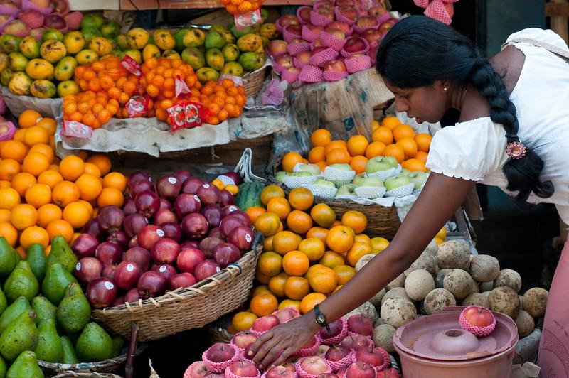 Produce stall on Main Street, Galle, Sri Lanka