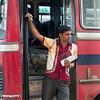 Bus conductor, Tangalla, Sri Lanka