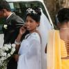 The bride takes a phone call, Galle, Sri Lanka