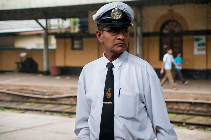 Train station master, Sri Lanka