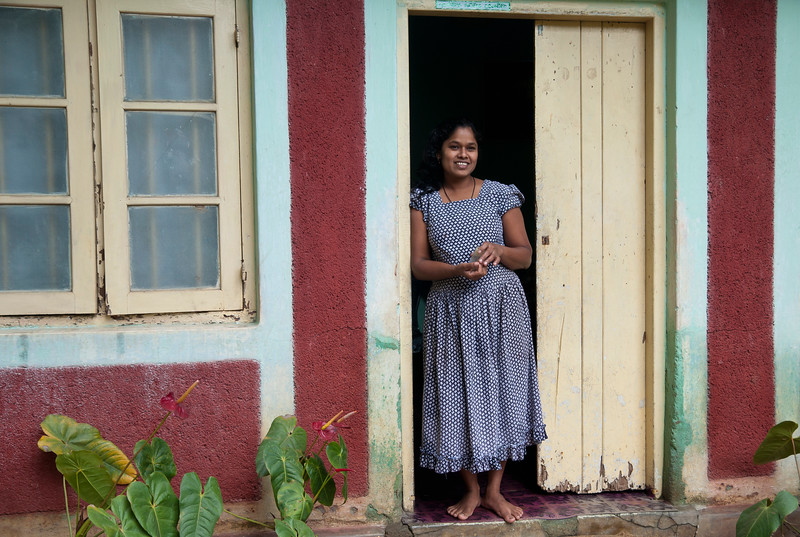 Woman in doorway, Kandy, Sri Lanka