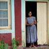 Woman in doorway, Kandy, Sri Lanka