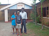 Mr Lawrence, Thivuru and self at the Four Tees Rest Inn, Mannar