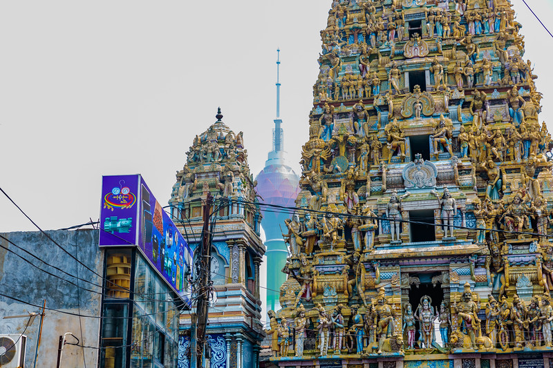 Lotus Tower and Temple in Sri Lanka