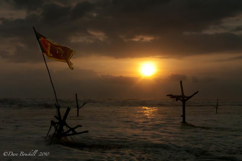 Sunset at Hikkaduwa Beach Sri Lanka