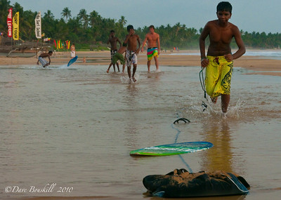 Surfing in Hikkadiwa, Sri Lanka