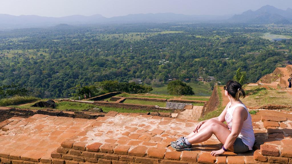 Top of Sigiriya Rock in Sri Lanka