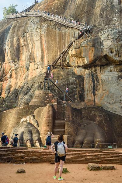 Climbing to the Top of Sigiriya