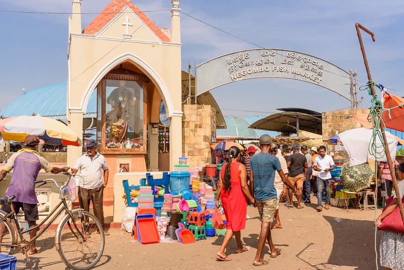 Negombo Fish Market Entrance