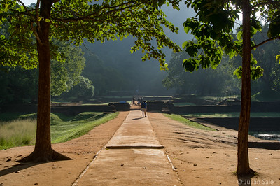This is the entrance to Sigiriya Rock, an important historical site.
