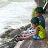 Luke Skywalker (Yonal) and little bro (Sasen) watching the lapping sea waves. Hope these two cute little boys  will grow up to be great guys and realise all their dreams.