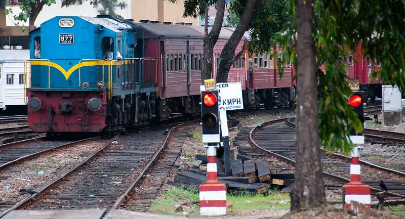 Train near Colombo, Sri Lanka, 2013