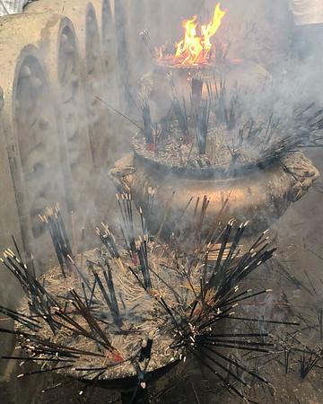 Burning Incense, Kelaniya, Sri Lanka, 2018