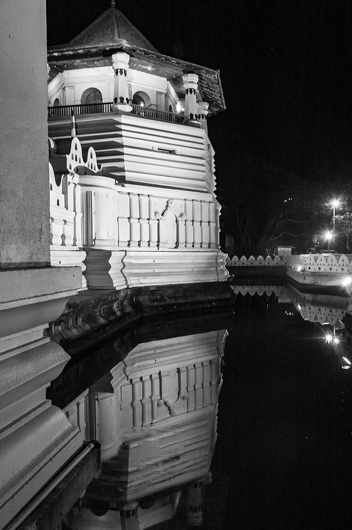 Temple of the Tooth at Night, Kandy, Sri Lanka, 2007