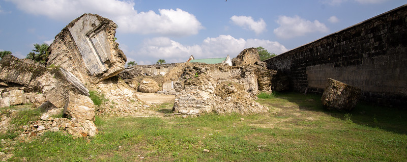 Bombed Dutch church inside Jaffna Fort