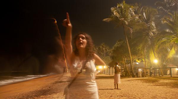 Ghostly Rebecca and Fireworks, Kalutara, Sri Lanka, 2007