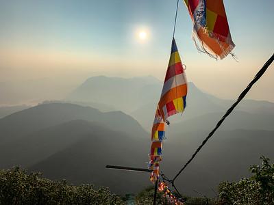 Descending Sri Pada, Sri Lanka