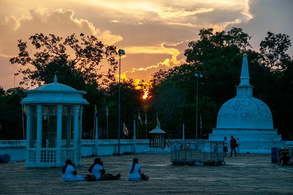Sunset at Ruwanvelisaya, Anuradhapura, Sri Lanka, 2013