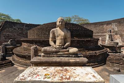 Buddha Statue at Vatadage, Polonnaruwa
