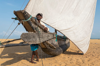Fisherman and Catamaran, Negombo Beach