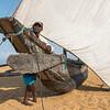 Fisherman and Catamaran, Negombo Beach
