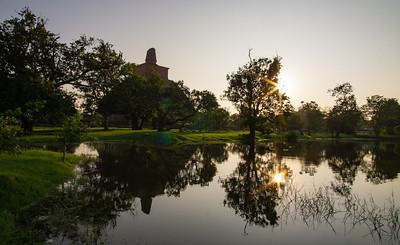 Jetavanarama at sunset, Anuradhapura