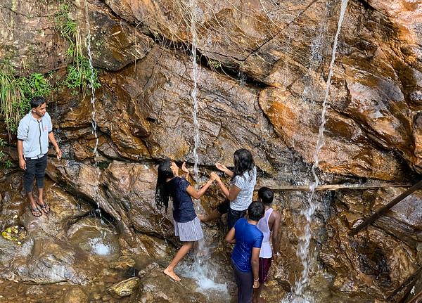 Bathers near Sri Pada, Sri Lanka