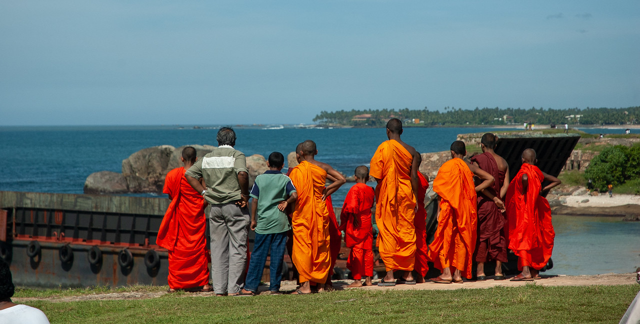 Monks at Galle Fort, 2007